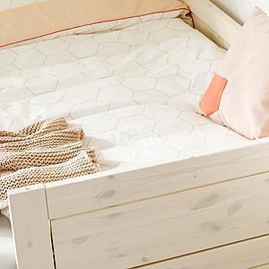 Cama-sofá base 90x200cm somier LUXE Lifetime blanqueado