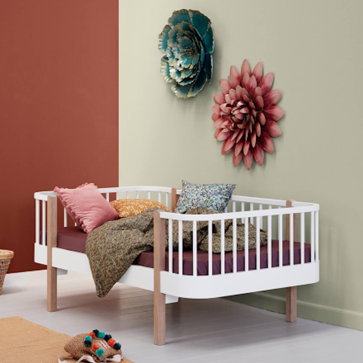 Cama sofá evolutiva 90x160cm WOOD Oliver Furniture blanco-roble
