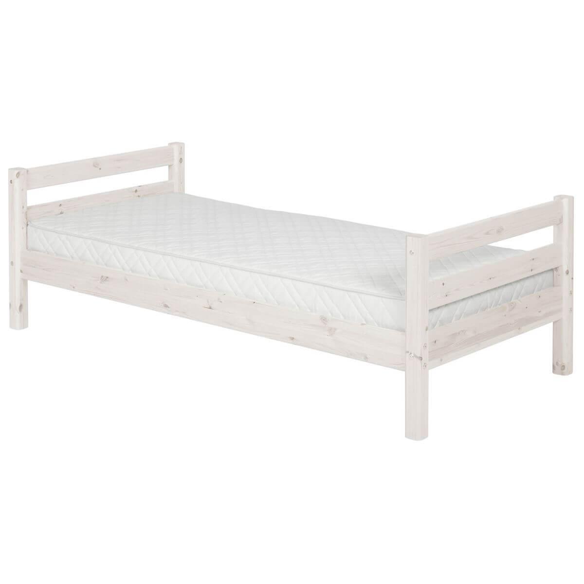 Cama somier 90x200 CLASSIC Flexa blanco cal