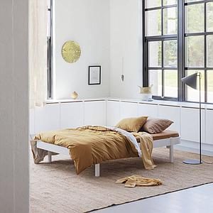 Cama tumbona 120cm WOOD Oliver Furniture blanco