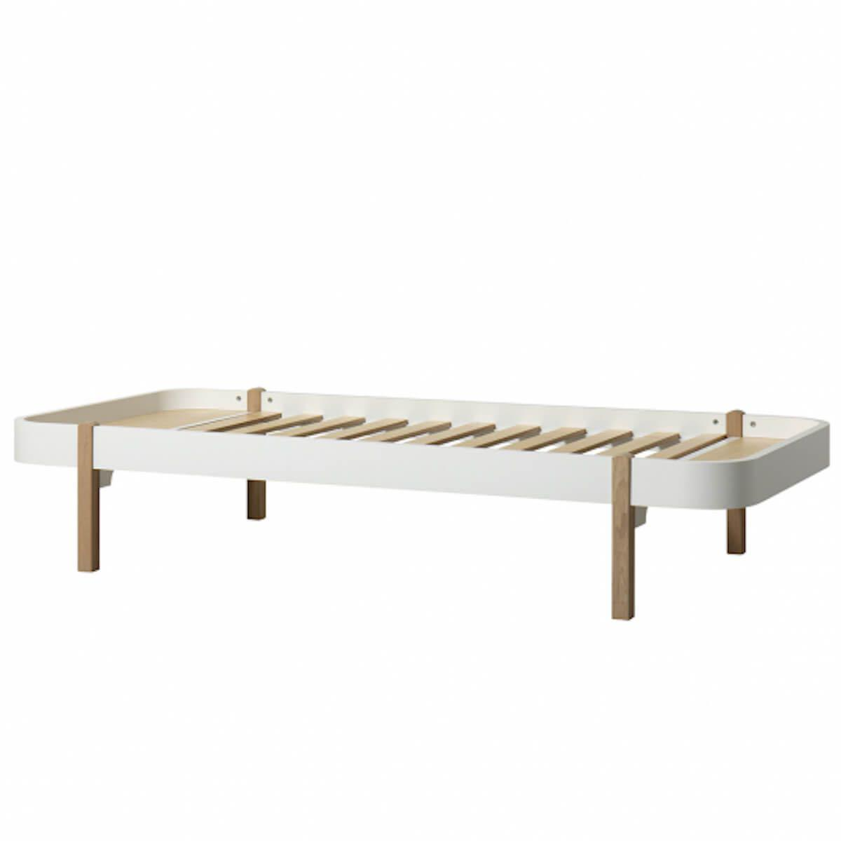 Cama tumbona 90cm WOOD Oliver Furniture blanco-roble