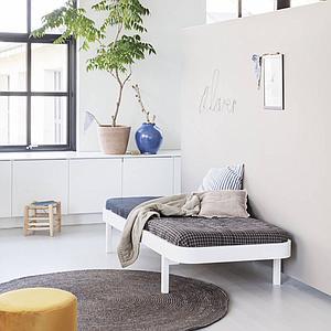 Cama tumbona 90cm WOOD Oliver Furniture blanco