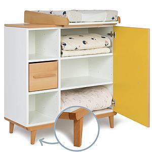 Cambiador cómoda 1 puerta NADO sunshine yellow