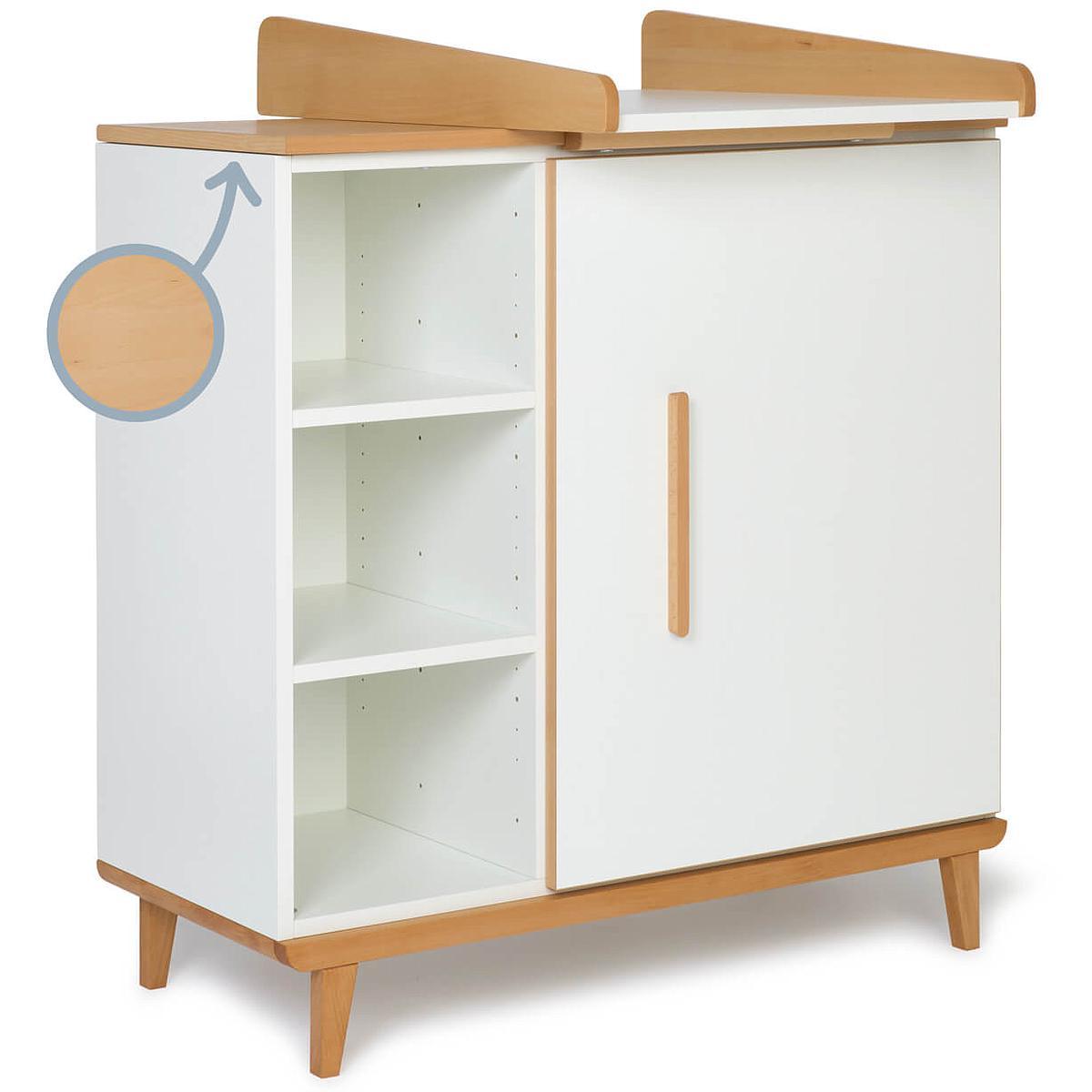 Cambiador cómoda 1 puerta NADO white