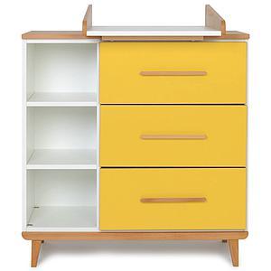 Cambiador cómoda 3 cajones NADO sunshine yellow
