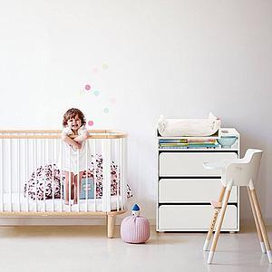 Cambiador cómoda bebé BABY Flexa 3 cajones blanco