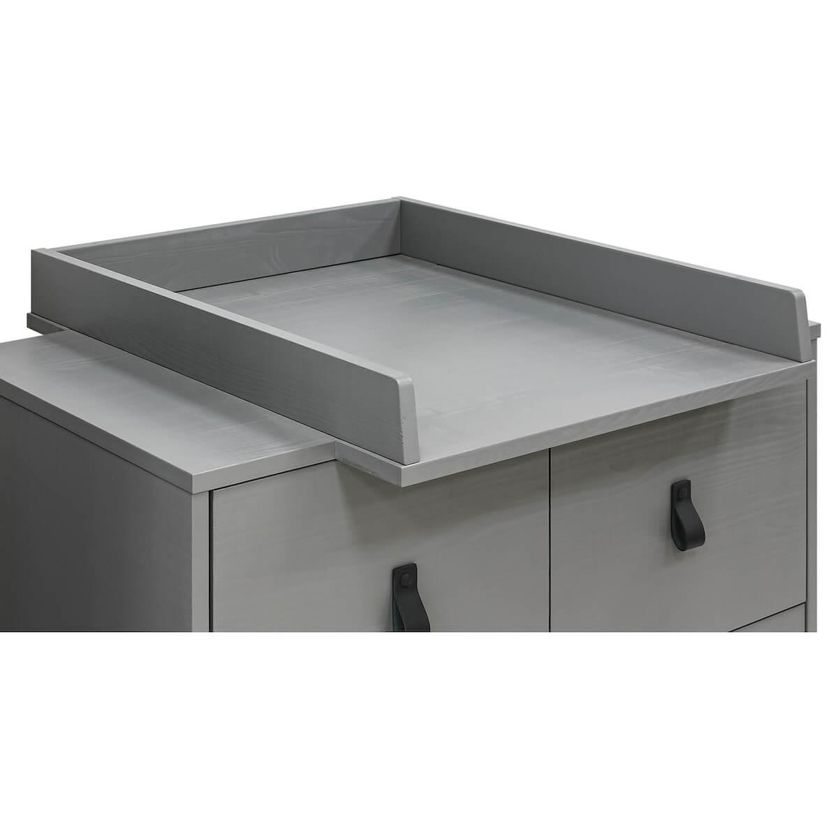 Cambiador cómoda MILO Bopita Steel grey