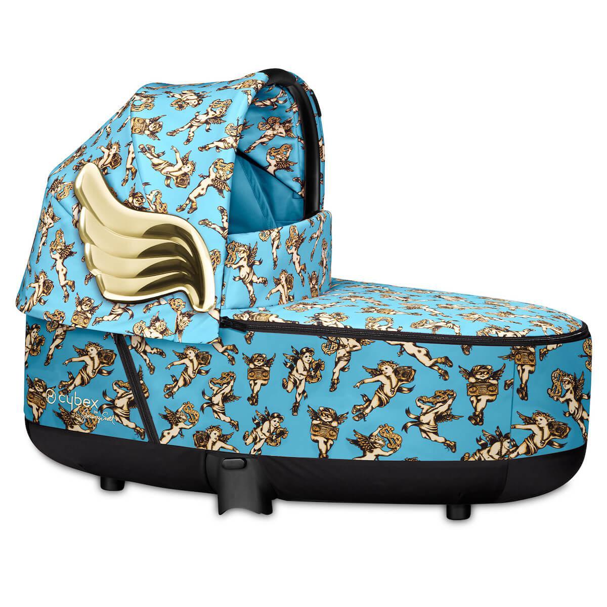 Capazo de luxe PRIAM Cybex cherub blue-blue