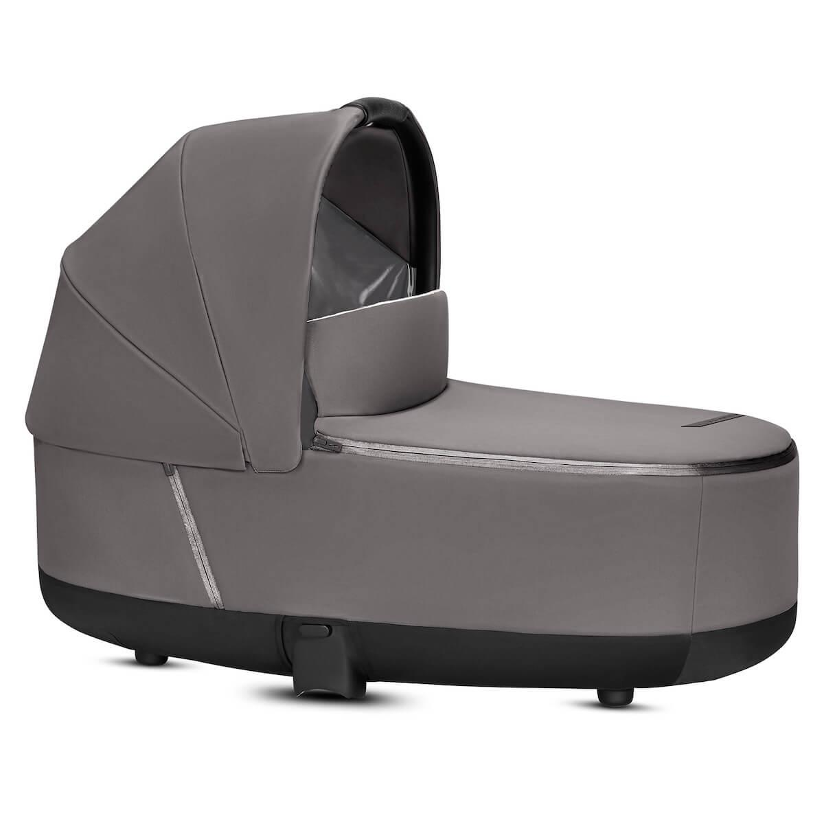 Capazo de luxe PRIAM Cybex manhattan grey-mid grey