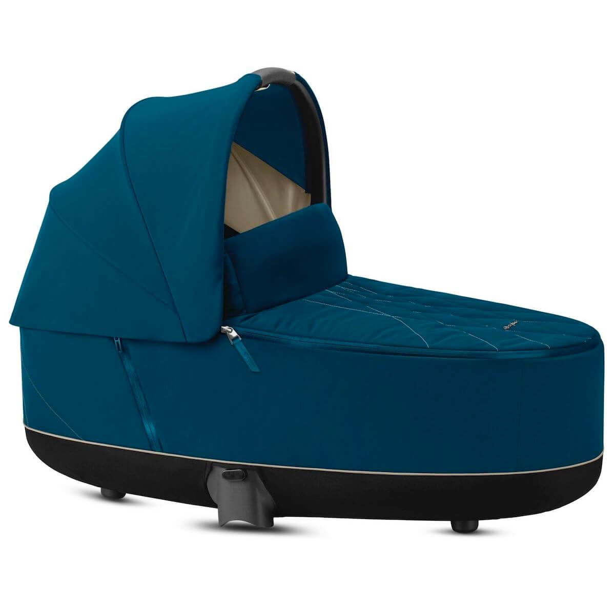 Capazo de luxe PRIAM Cybex Mountain blue-turquoise