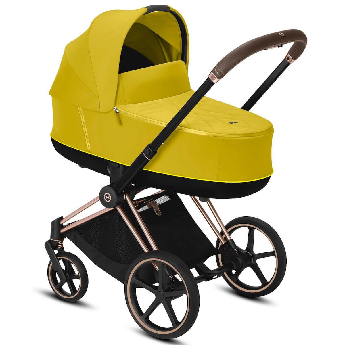 Capazo de luxe PRIAM Cybex Mustard yellow-yellow