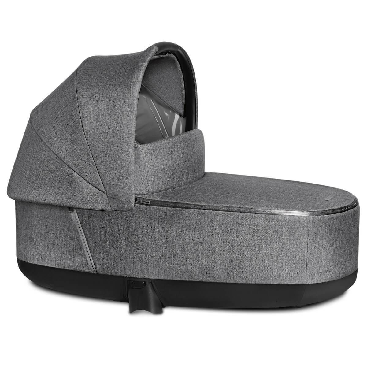 Capazo de luxe PRIAM Cybex Plus Manhattan Grey Plus-mid grey