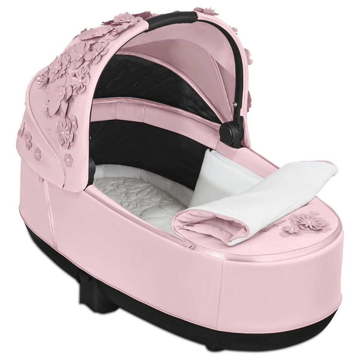 Capazo de luxe PRIAM Cybex Simply Flowers pink