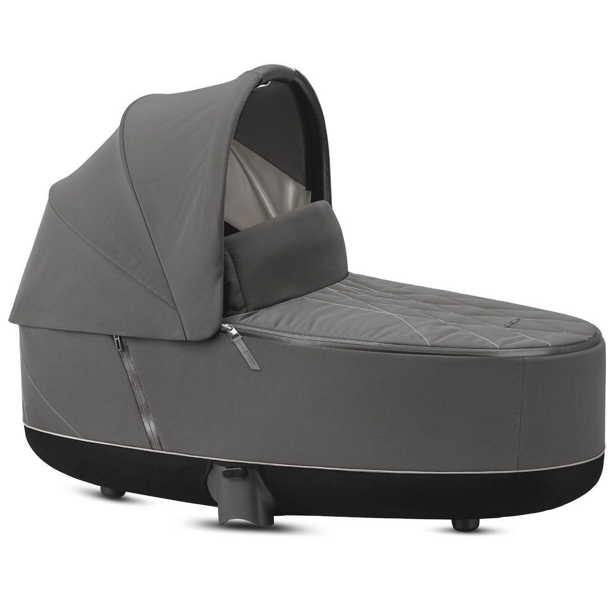 Capazo de luxe PRIAM Cybex Soho grey-mid grey