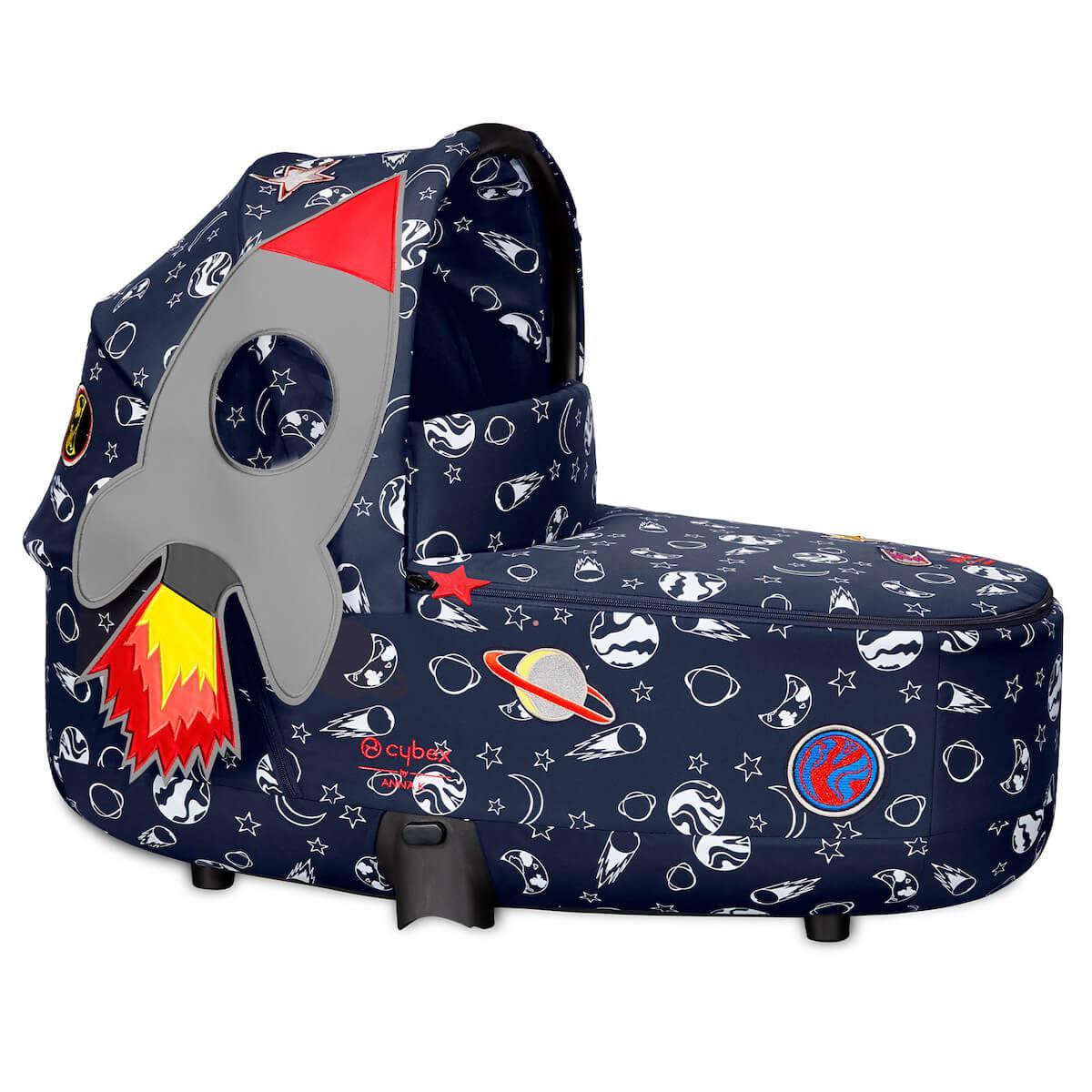 Capazo de luxe PRIAM Cybex space rocket-navy blue