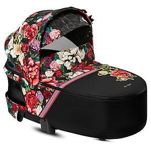 Capazo de luxe PRIAM Cybex spring blossom dark-black