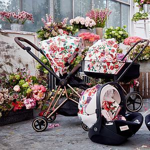 Capazo de luxe PRIAM Cybex spring blossom light-light beige