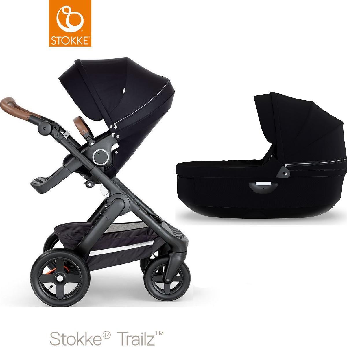 Carrito bebé-capazo todo terreno TRAILZ Stokke marrón-negro