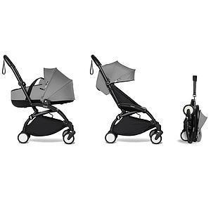 Carrito completo YOYO² bassinet 6+ Babyzen negro-gris