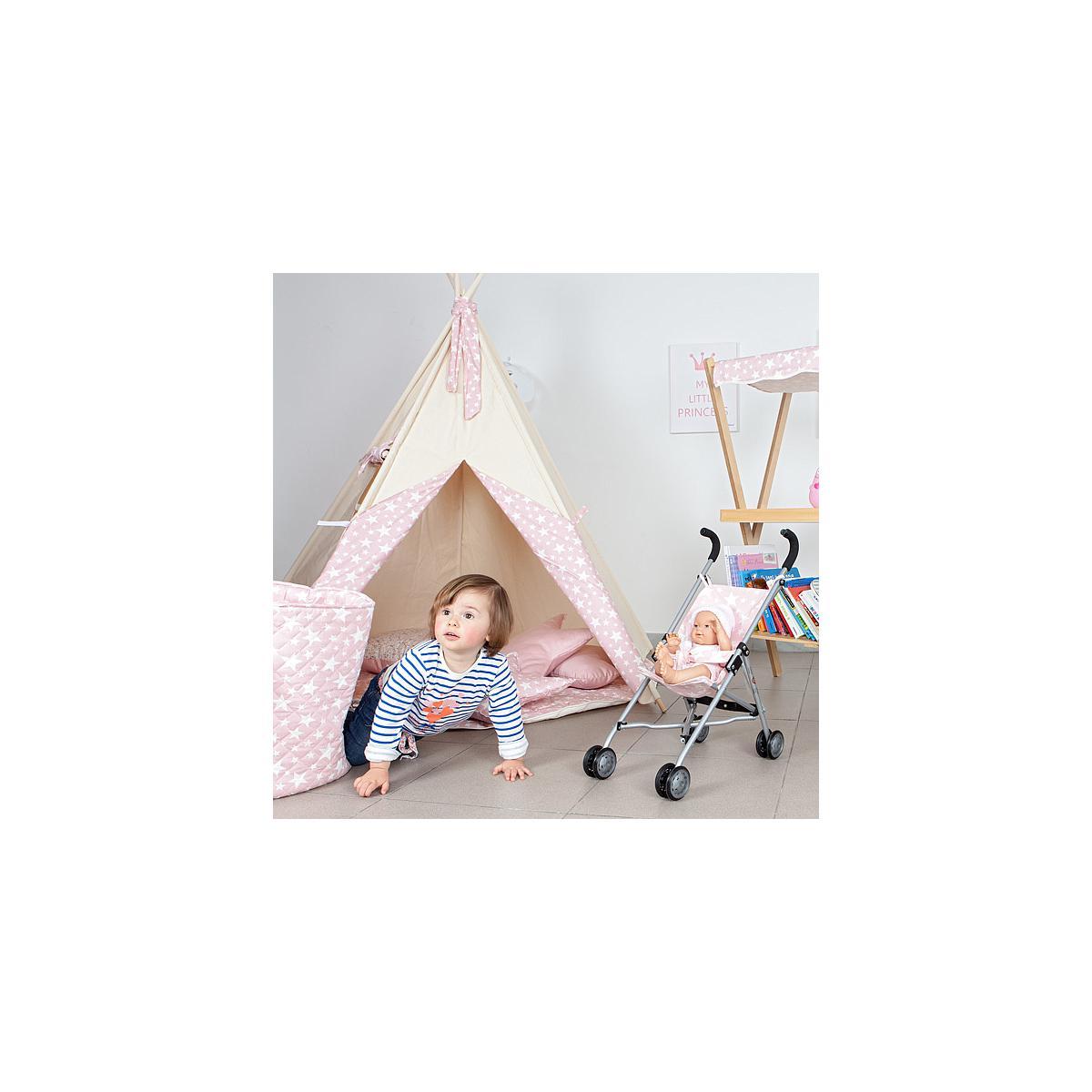 Carrito muñecas ESTRELLAS Abitare kids Rosa