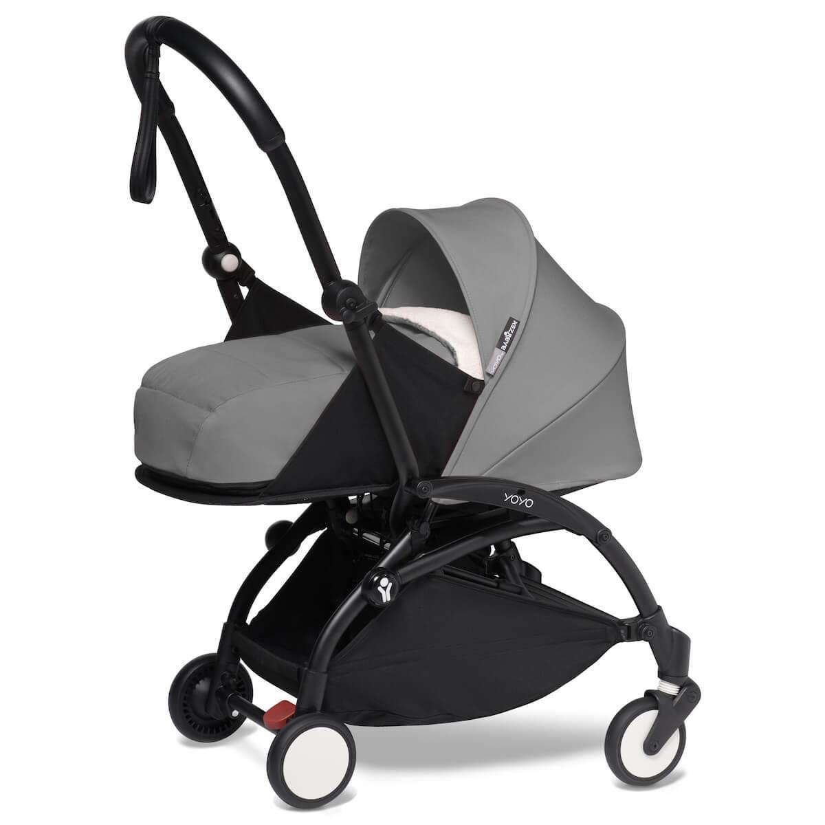 Carrito recién nacido YOYO² 0+M Babyzen negro-gris