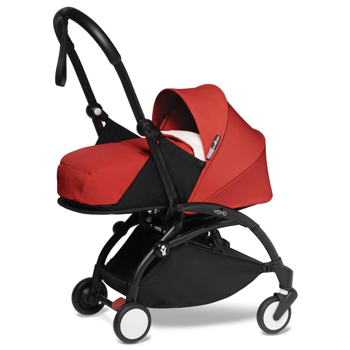 Carrito recién nacido YOYO² 0+M Babyzen negro-rojo