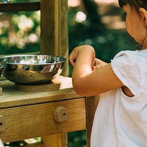 Cocina madera exterior DISCOVERY Plum