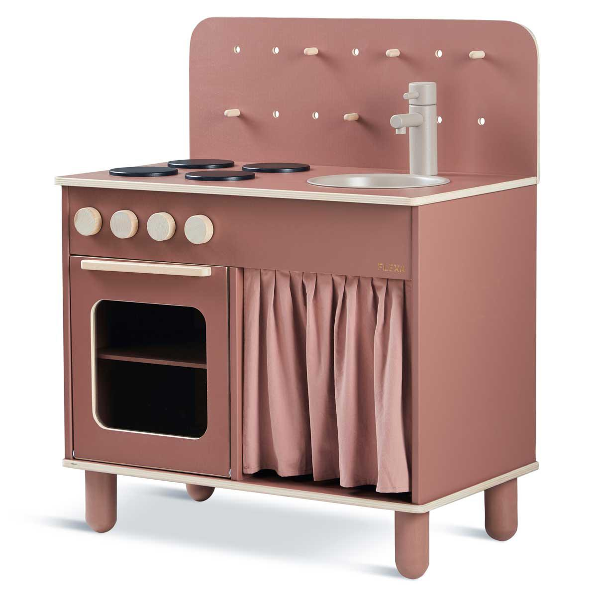 Cocina PLAY Flexa dark rosa