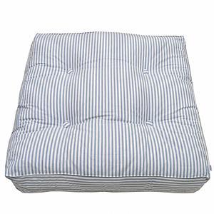 Cojín suelo 90x90cm Oliver Furniture rayas azules