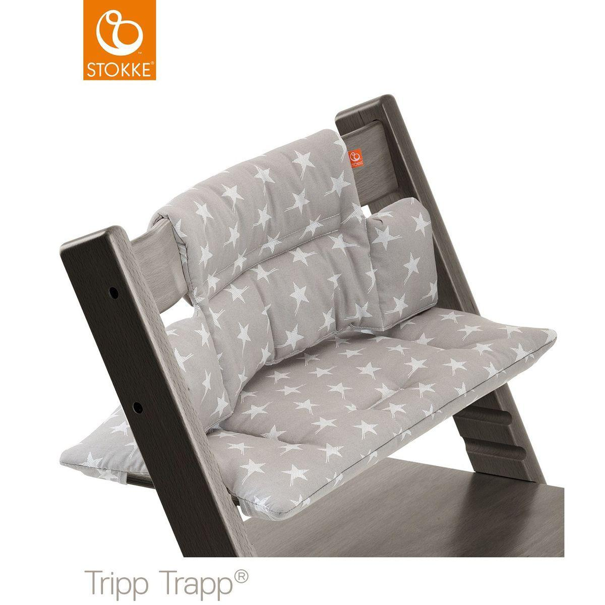 Cojín trona bebé TRIPP TRAPP Stokke estrellas gris