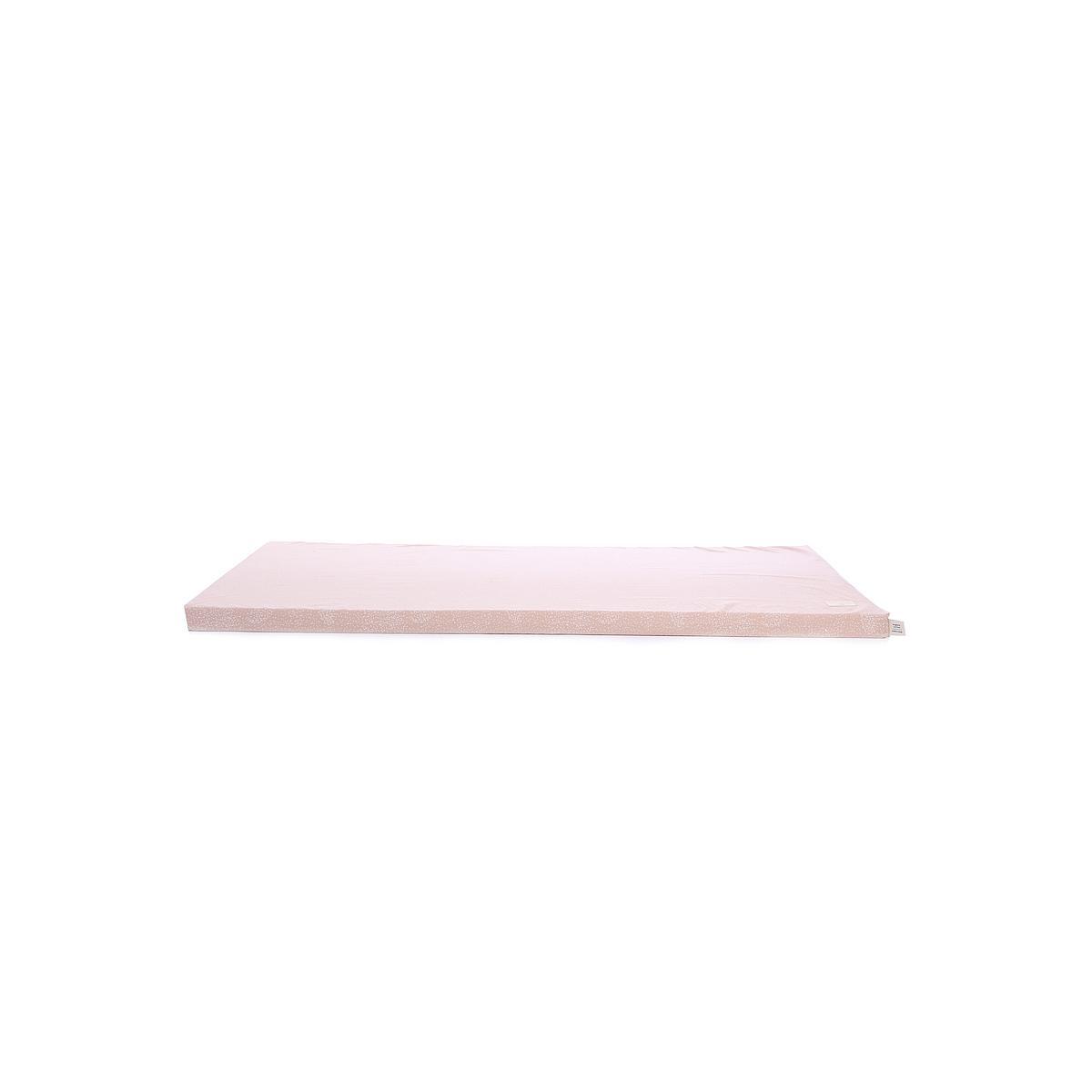 Colchón 60x120cm ST BARTH ELEMENTS Nobodinoz white bubble-misty pink