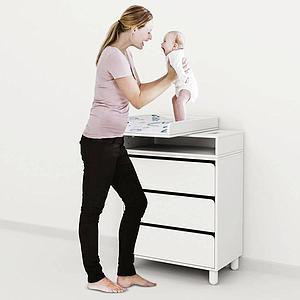 Colchón cambiador bebé BABY Flexa azul