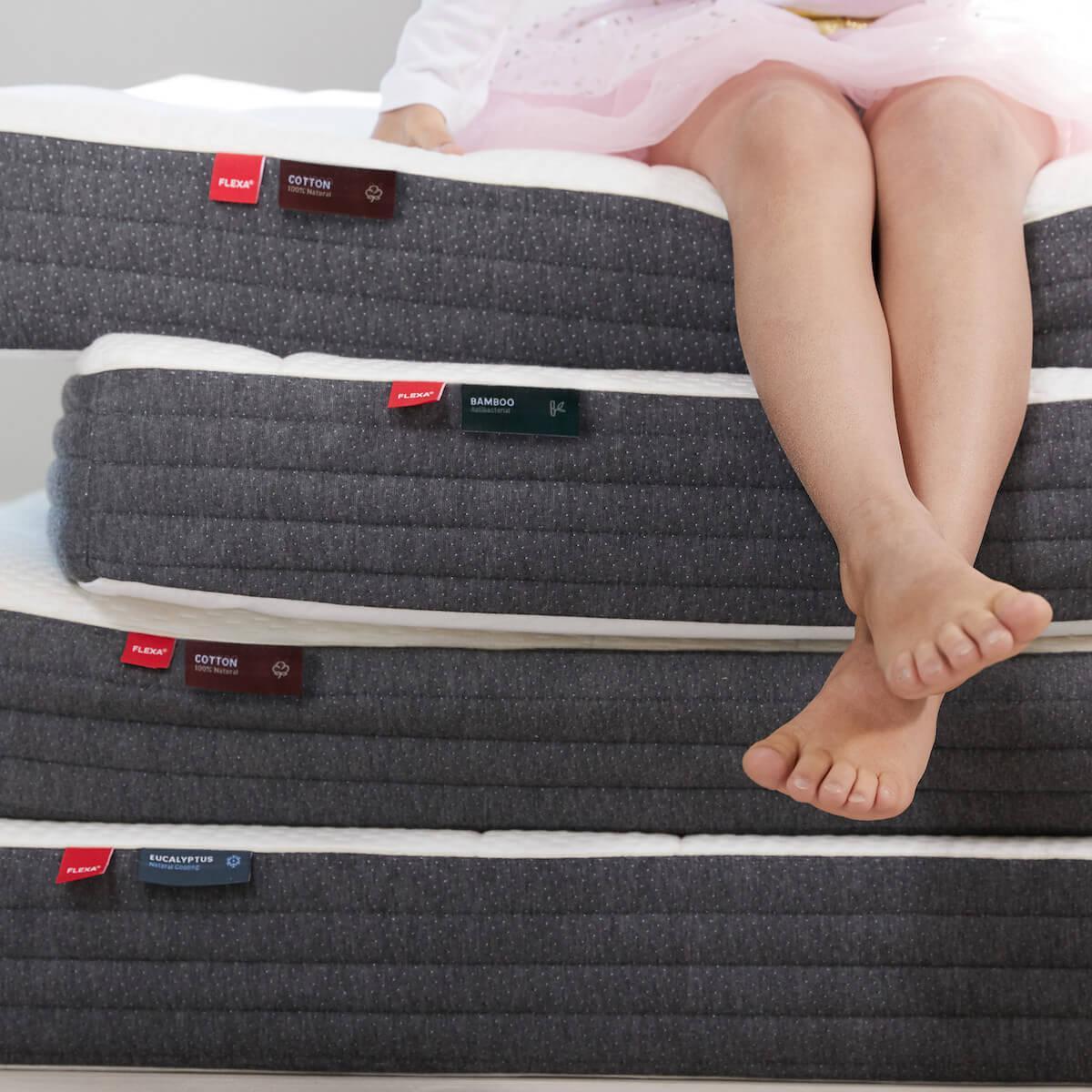 Colchón espuma 90x190cm funda bambú SLEEP Flexa