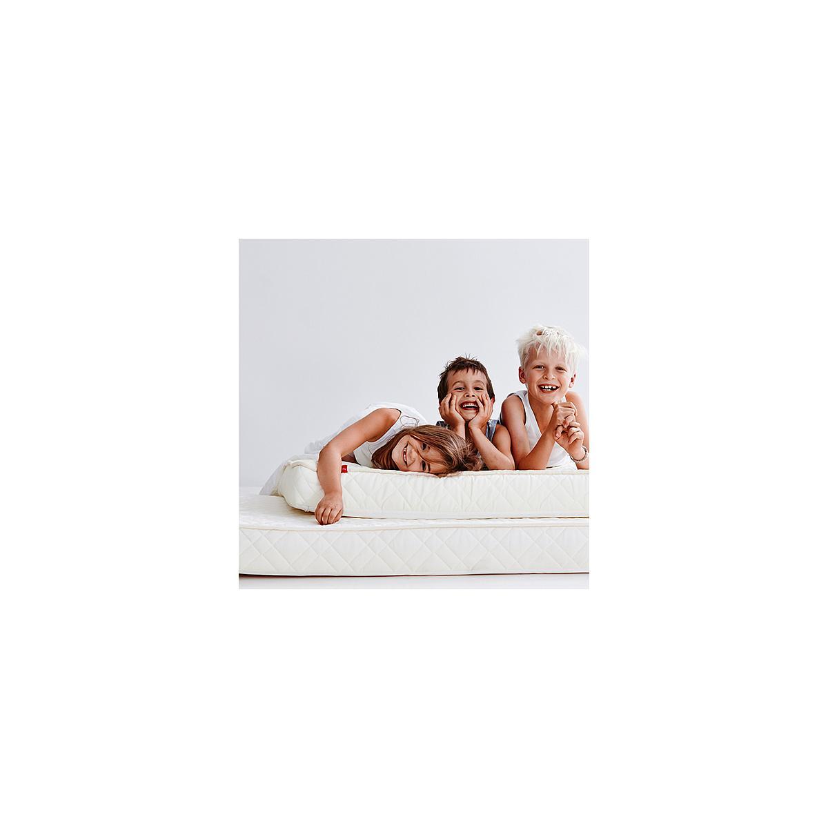 Colchón espuma y látex con funda 90x190 Flexa crema