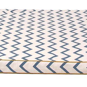 Colchón infantil SAINT TROPEZ Nobodinoz Zigzag azul