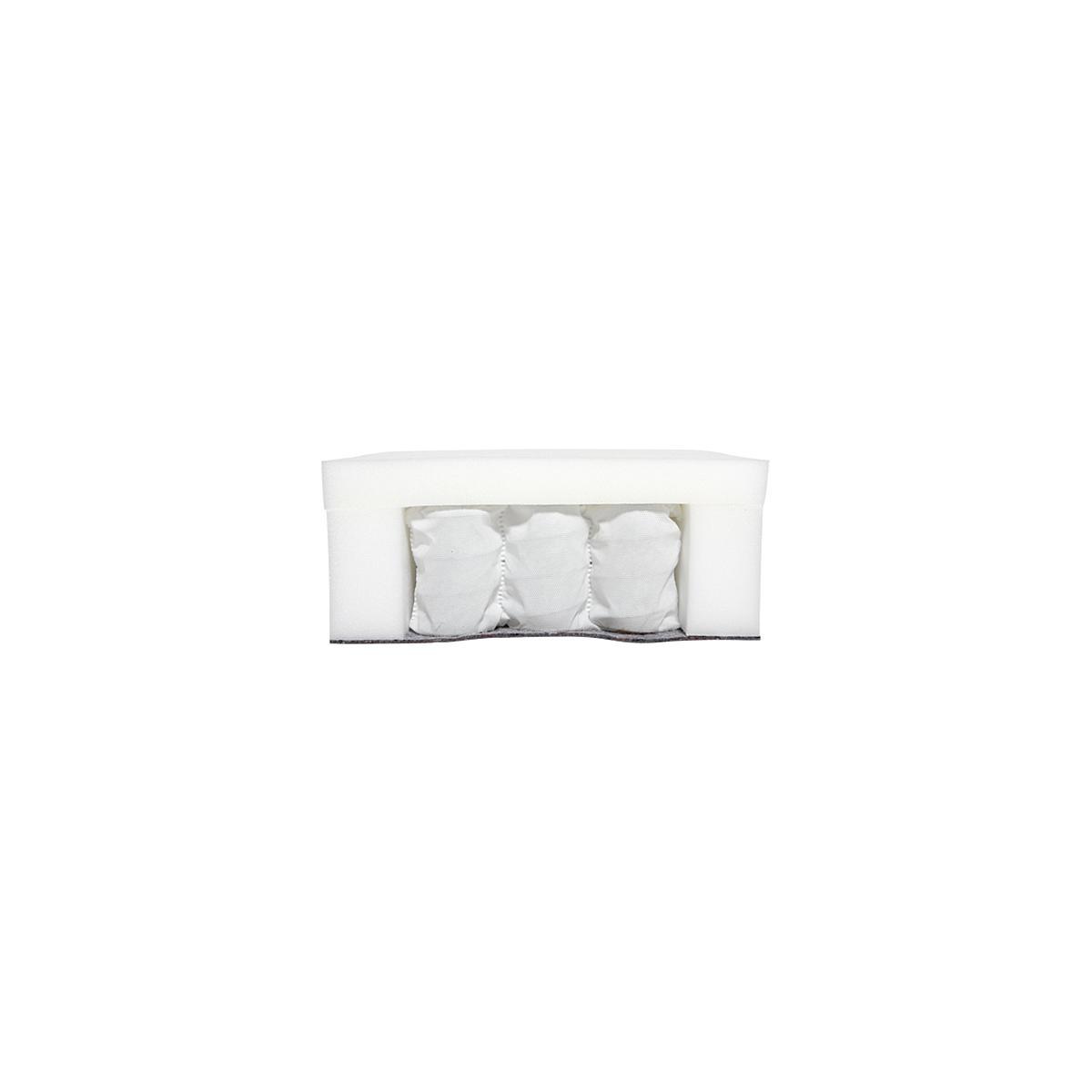 Colchón muelles con funda 140x190 Flexa crema