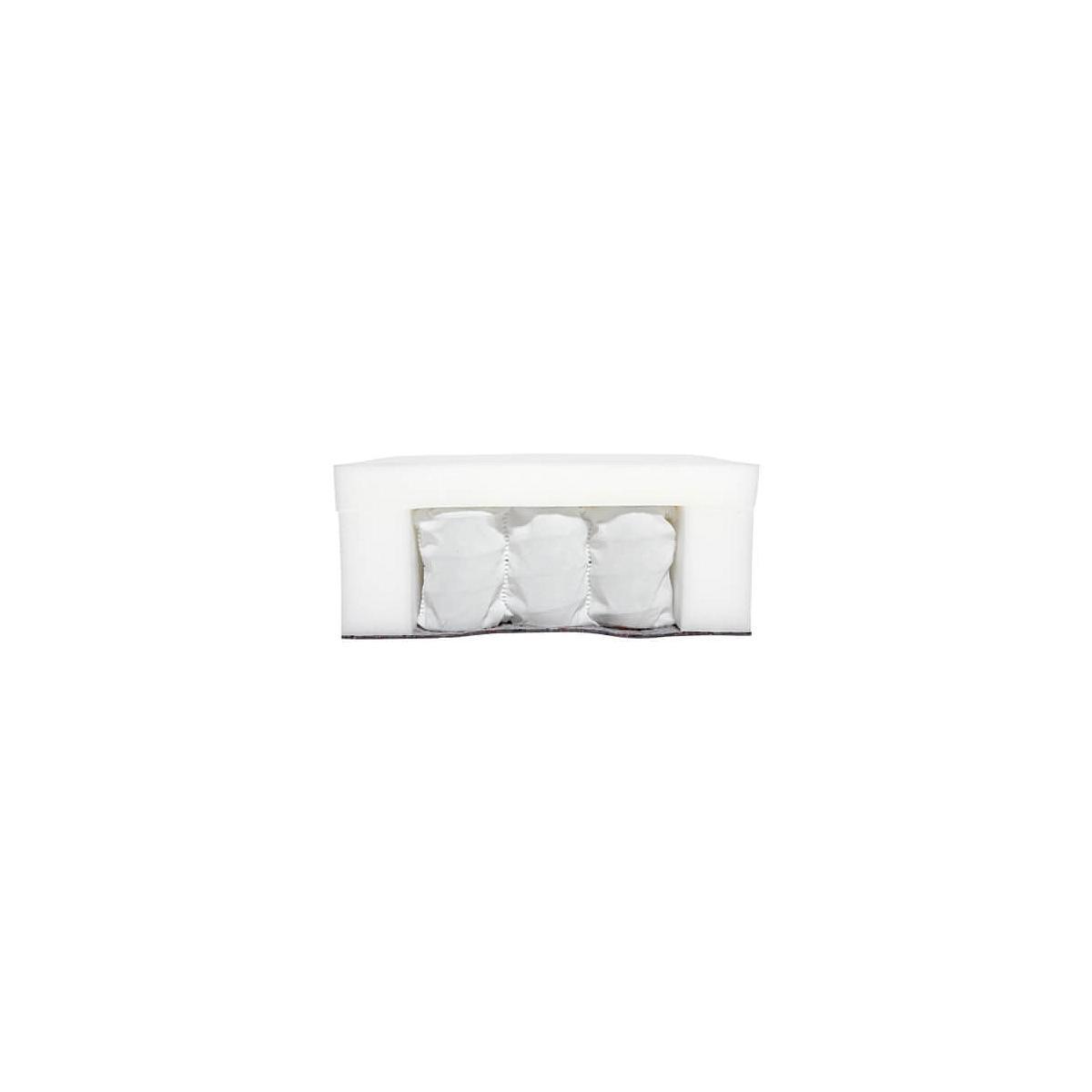 Colchón muelles con funda 140x200 Flexa crema