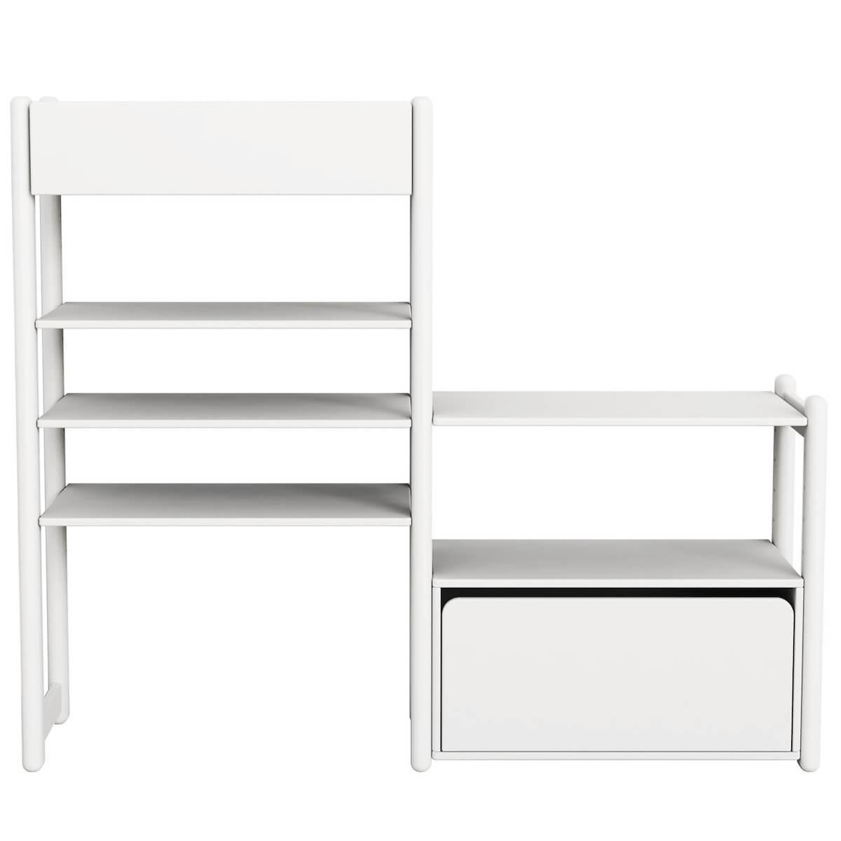 Combi 1. estanterías Mini-Midi SHELFIE Flexa blanco