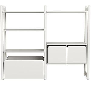 Combi 3. estanterías Midi SHELFIE Flexa blanco