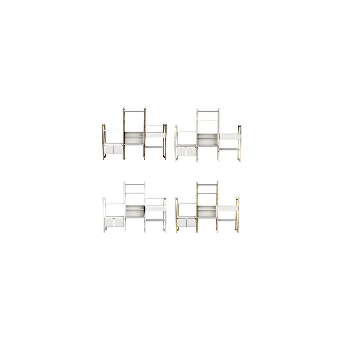 Combi 8. estanterías Midi-Maxi SHELFIE Flexa blanco