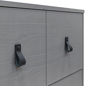 Cómoda 2 cajones MILO Bopita Steel grey