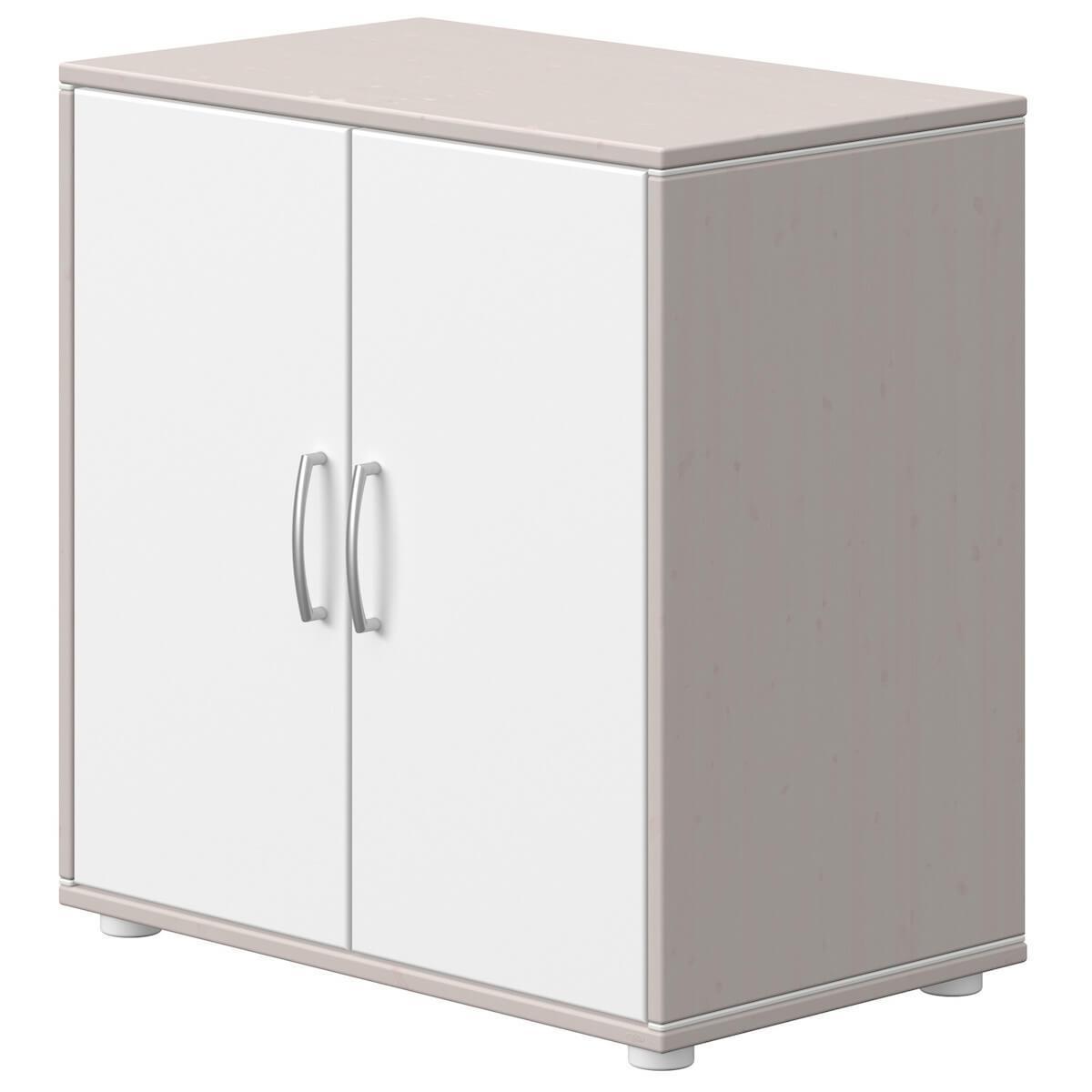 Cómoda 2 puertas CLASSIC Flexa grey washed-blanco