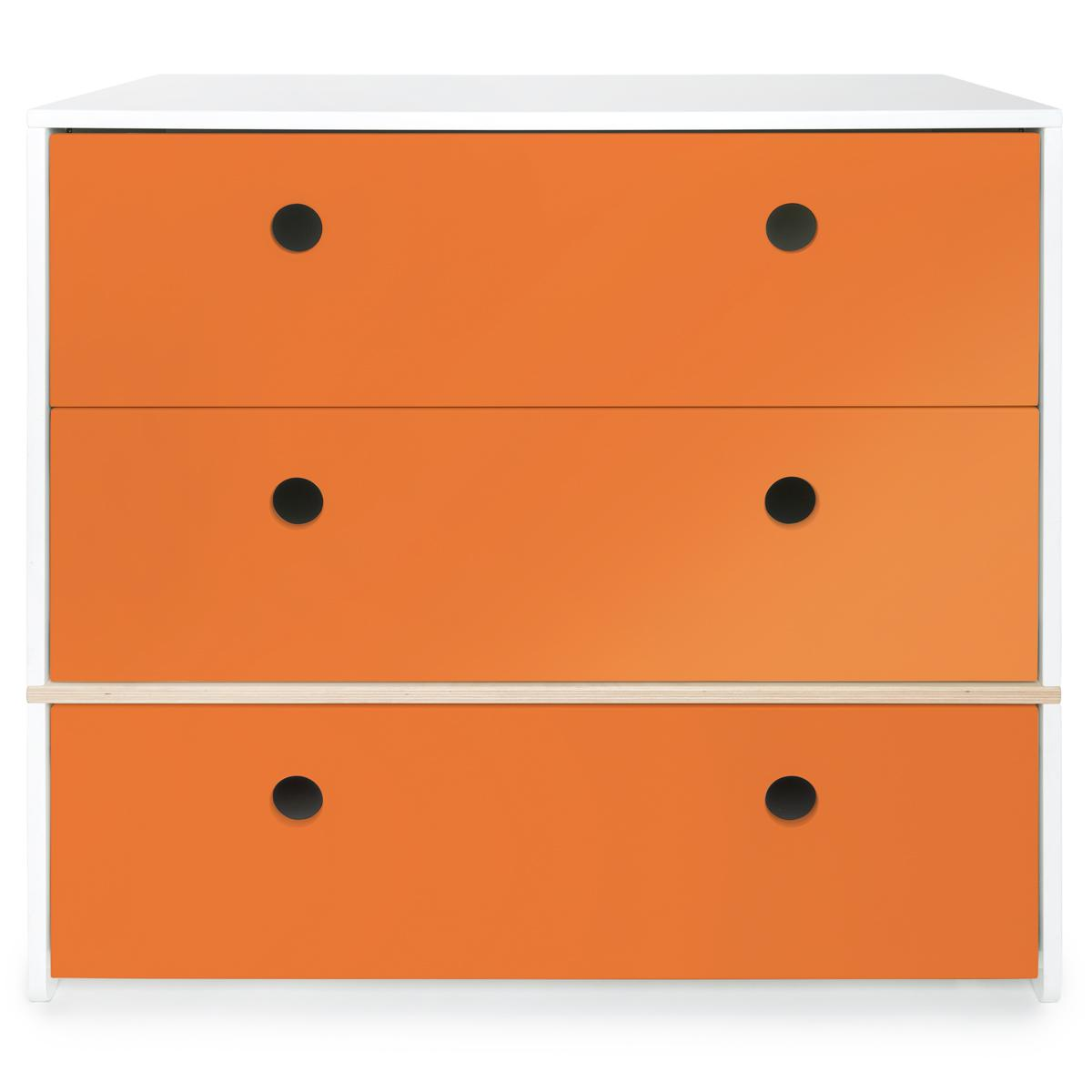 Cómoda 3 cajones COLORFLEX cajones frontales pure orange