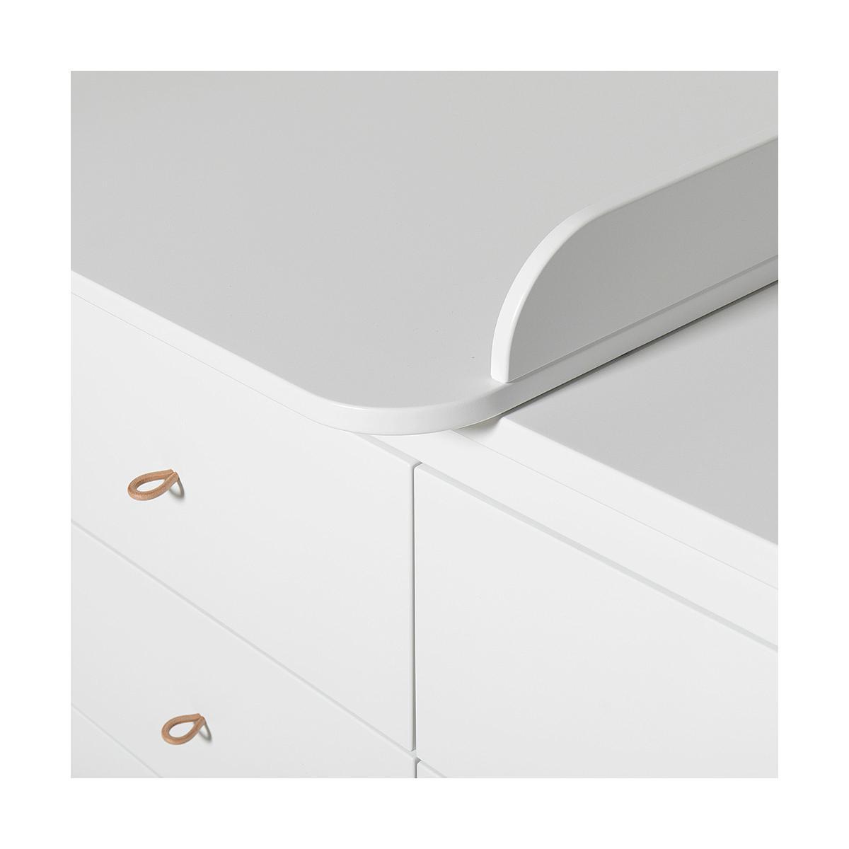 Cómoda 6 cajones cambiador small WOOD Oliver Furniture blanco