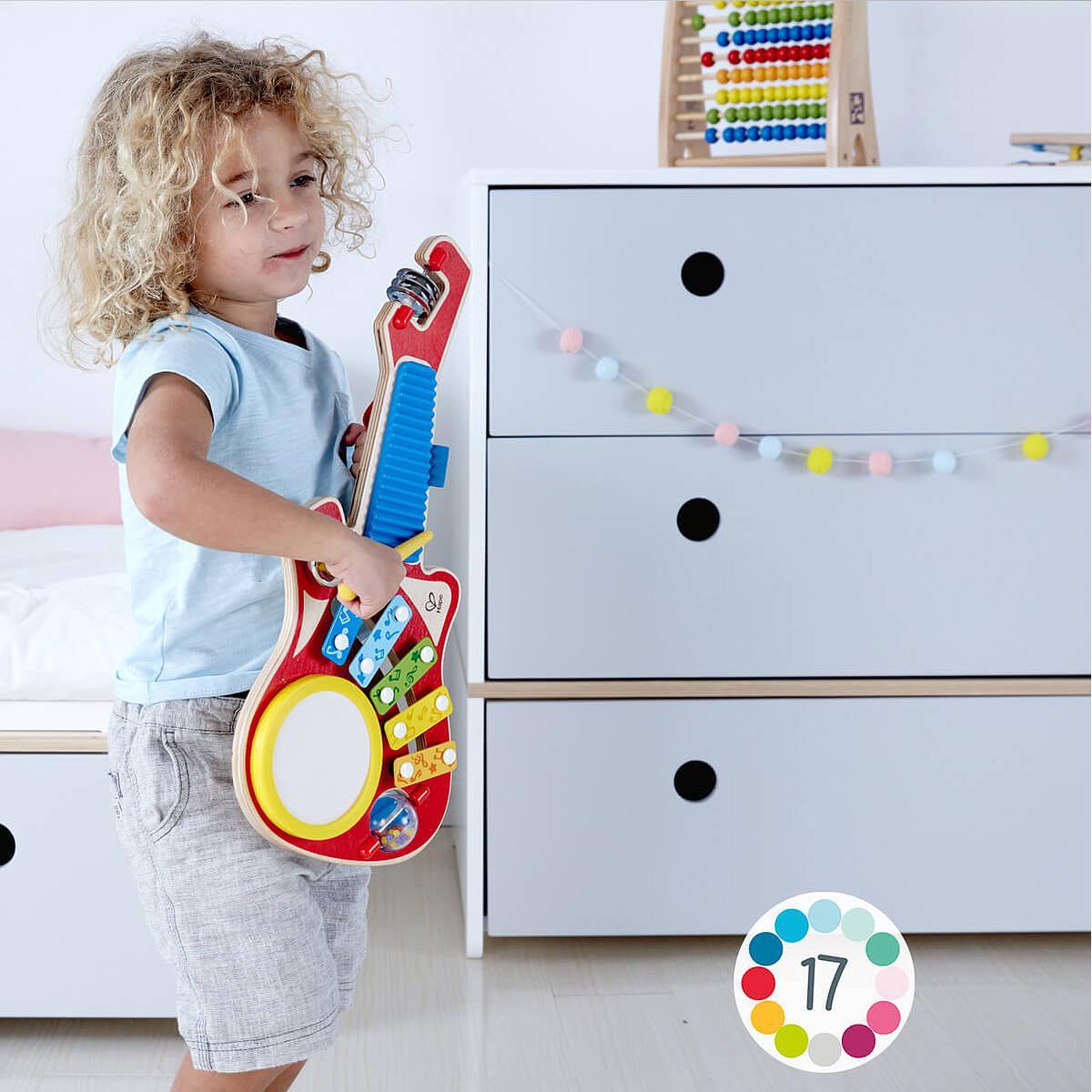 Cómoda COLORFLEX Abitare Kids cajones frontales pearl grey-pearl grey-space grey