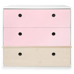 Cómoda COLORFLEX Abitare Kids cajones frontales sweet pink-white wash