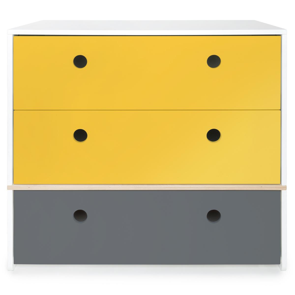 Cómoda COLORFLEX cajones frontales nectar yellow-nectar yellow-space grey