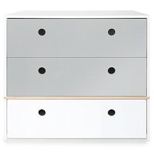 Cómoda COLORFLEX cajones frontales pearl grey-pearl grey-white