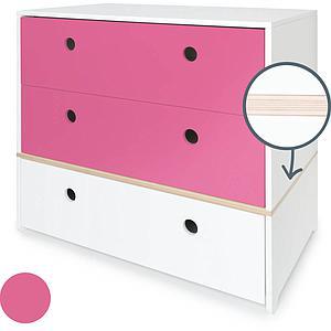 Cómoda COLORFLEX cajones frontales pink-pink-white