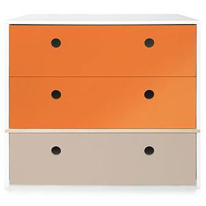 Cómoda COLORFLEX cajones frontales pure orange-pure orange-warm grey